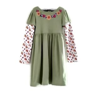 50%OFF! ⬇️Gymboree Flowered Smock Dress 5